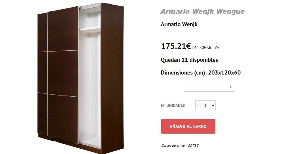Nuevos armarios roperos baratos en woodye for Armarios roperos puertas correderas