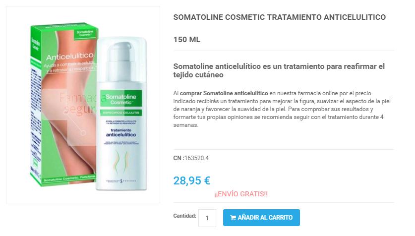 Somatoline Cosmetic Celulitis Opiniones y Precio