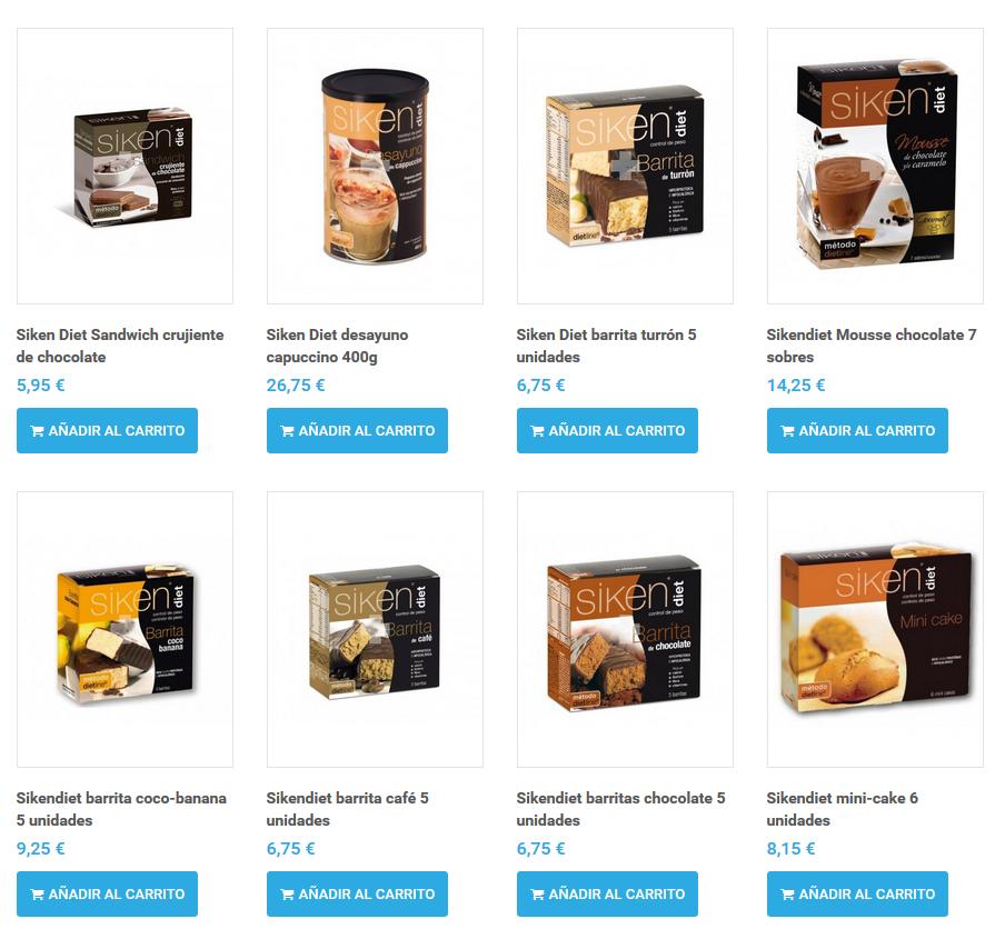comprar productos siken diet online