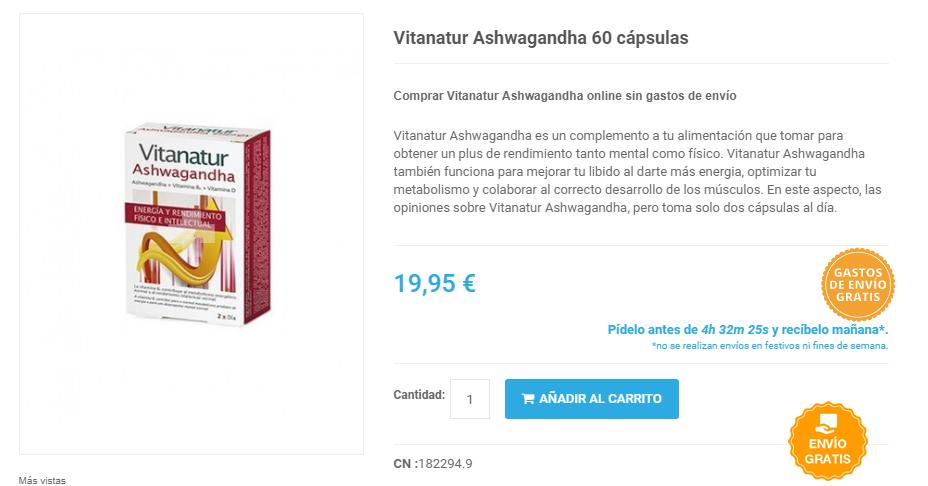 vitanatur ashwagandha comprar online
