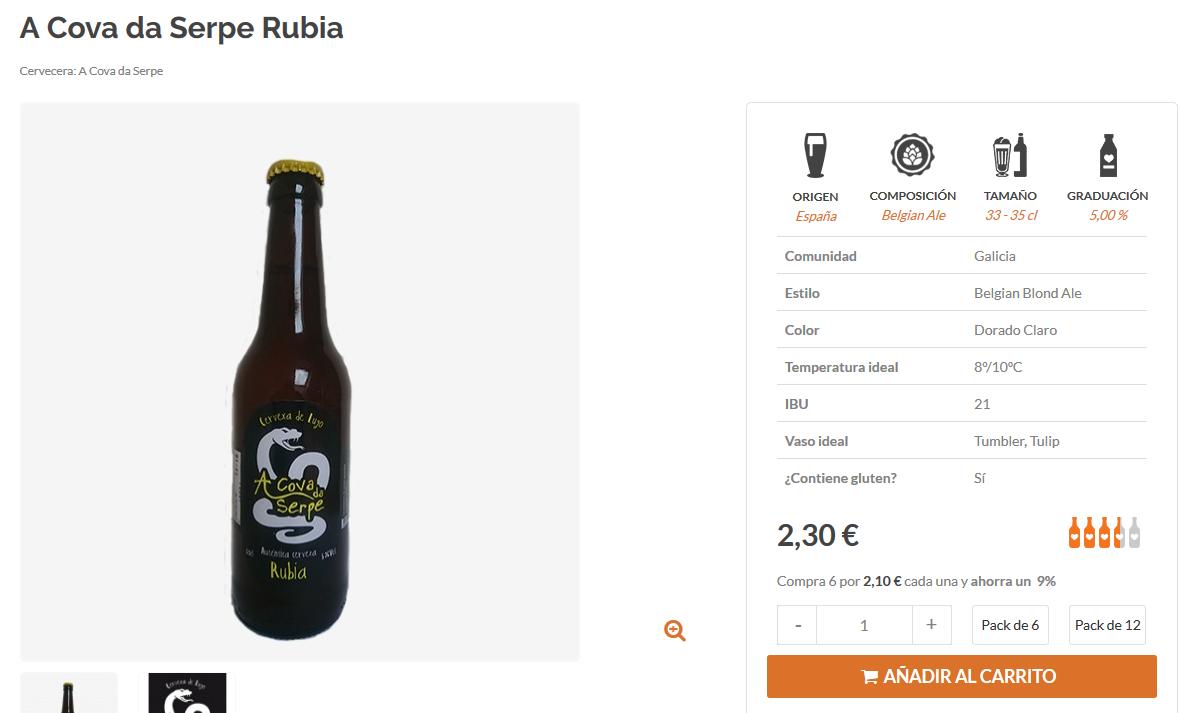 Comprar cerveza artesana gallega